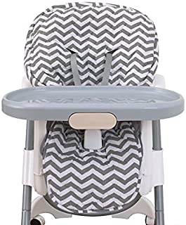 Best NoJo High Chair Cover Pad - Chevron Gray Review
