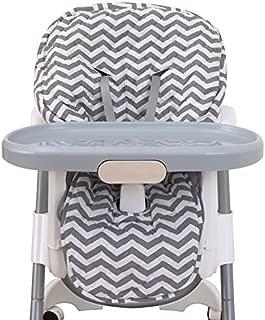 NoJo High Chair Cover Pad - Chevron Gray
