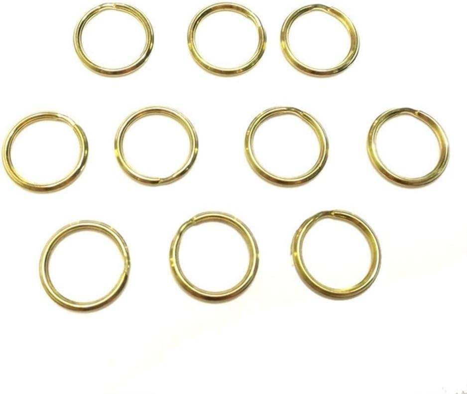 XuetongXT Dependability 10PCS Brass Split Hook High quality Rings Key L Chain Los Angeles Mall