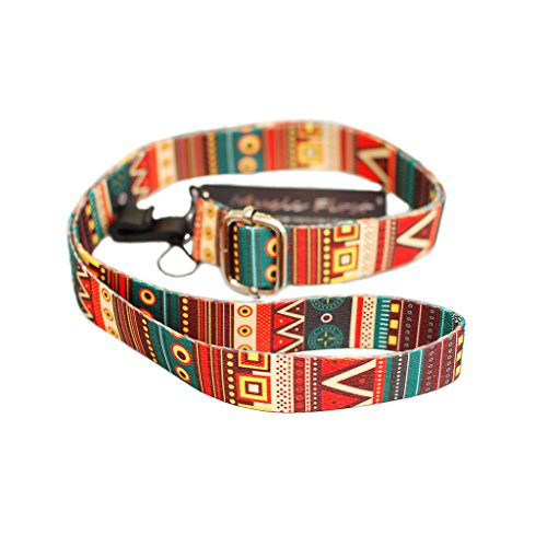 MUSIC FIRST Aztec Style Adjustable Soft Ukulele Strap Ukulele Neck Strap