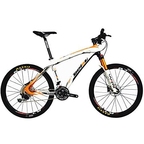 BEIOU Carbon Fiber Mountain Bike Hardtail MTB Shimano M610 DEORE 30 Speed Ultralight 10.8 kg RT 26...