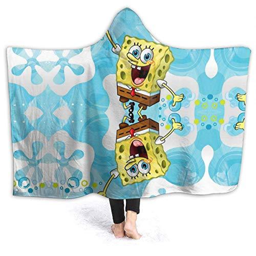LuoYangShiLaoChengQuTianYuGangCaiXiaoShouBu Fleece Hooded Blanket Leitfaden zur Spongebob-Decke für Erwachsene Männer Frauen Mädchen Mädchen Jungen Kinder