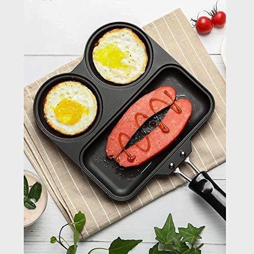 XXT Pan Omelet pan met anti-aanbaklaag pan, Multi-sectie Pan Inductie Compatibel Pan Aluminium Non-stick Pan 21cm