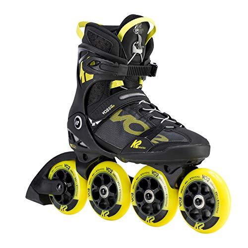 K2 Skates Herren VO2 S 100 PRO M Inline Skates, black-yellow, 44 EU (9.5 UK)