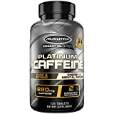 Caffeine Pills | MuscleTech 100% Caffeine Pre Workout Pills | Mental Focus + Energy Pills for Preworkout | Unflavored | 220mg of Pure Caffeine | Energy Supplements, 125 Capsules (Package May Vary)