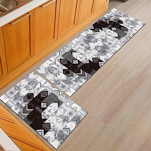 HLXX Alfombrillas de Puerta Simples Personalizadas a Prueba de Polvo alfombras de Mesa de Comedor de Cocina Antideslizantes alfombras de Puerta Lavables A2 40x60cm