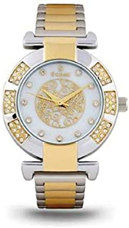 Suenx watch for women, analog stainless steel Teton white dial