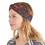 CHARM Tie Dye Diadema Hippie - Cinta Para Verano Turbante Hombre Boho Yoga Headband Banda Hippy Accesorio G
