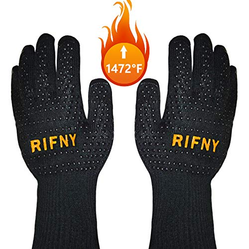 BBQ Gloves, Rifny Grill Gloves Protect to 1472°F Extreme Heat...