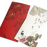 10X Toruiwa Umschläge Blumenmuster Briefumschläge Vintage Muster für Hochzeit Geburtstag Party Geschenk Zufällige Farbe (11 * 12cm)