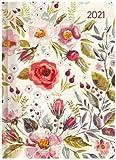 Ladytimer Flower Field - Taschenkalender A6 - Kalender 2021 - Alpha Edition-Verlag - Eine Woche auf 2 Seiten - Buchplaner mit Lesebändchen und Platz für Notizen - Format 11 cm x 14,8 cm