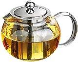 【morningplace】 ガラス ティーポット 耐熱 耐冷 かわいい ずんぐり ホット コーヒー 紅茶 に (950ml.)