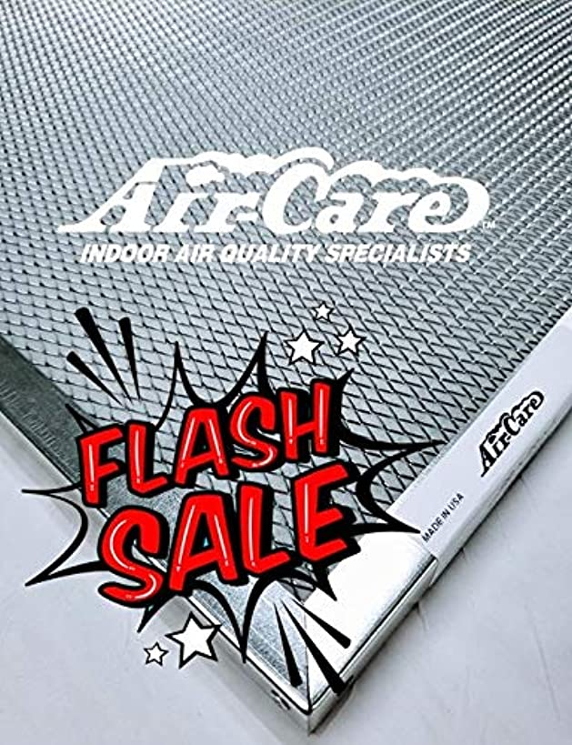 Air-Care 20x20x1 Silver Electrostatic Washable A/C Furnace Air Filter - Limited, Never Buy Another Filter!! - Made In the USA