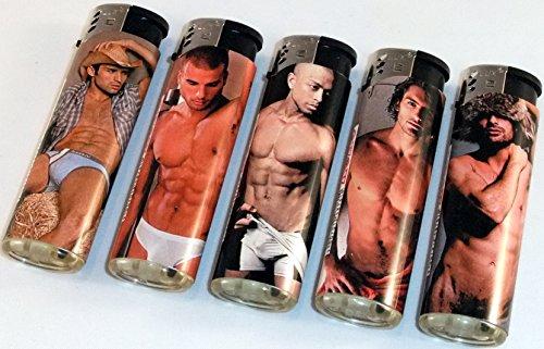 5 er SET Feuerzeug sexy Männer nachfüllbar