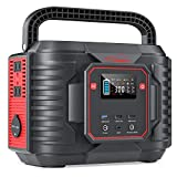 YABER Portable Power Station 300W for Home Backup Power, Solar Generators 266.4Wh 72000mAh with 110V Pure Sine Wave AC Outlet, Outdoor Generators with PD 60W   Wireless Charge   Fast Charge for Outdoor Camping
