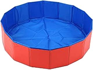 LUXEHOME Foldable Dog Pet Swimming Pool Bathing Tub, 31.5x8 inches