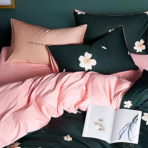 Set di lenzuola piatte in microfibra Lusso 100% egiziano 60s Biancheria da letto in cotone a fiocco lungo Copriletto matrimoniale Set biancheria da letto con stampa digitale di uccelli-G_2.0