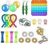 KAIBINY Fidget Toy Pack, Pack Fidget Toys con Simple Dimple para Aliviar El EstréS Y La Ansiedad, Fidget Toys Set De Juguetes Sensoriales para NiñOs y Adultos (26 Piezas)