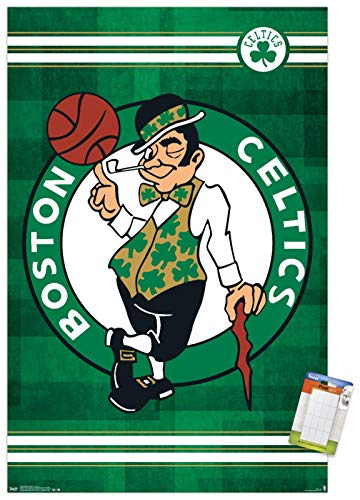 Trends International NBA Boston Celtics - Logo 14 Wall Poster, 22.375' x 34', Premium Poster & Mount Bundle