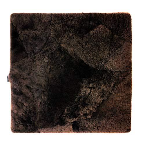 Sitzkissen Lammfell Patch (Rollstuhlauflage Katzenbett) 40x40cm Mocca