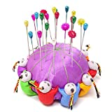 Honbay Handmade Product Chinese Traditional Style Needle Pin Cushion with 10 Kids (Purple)