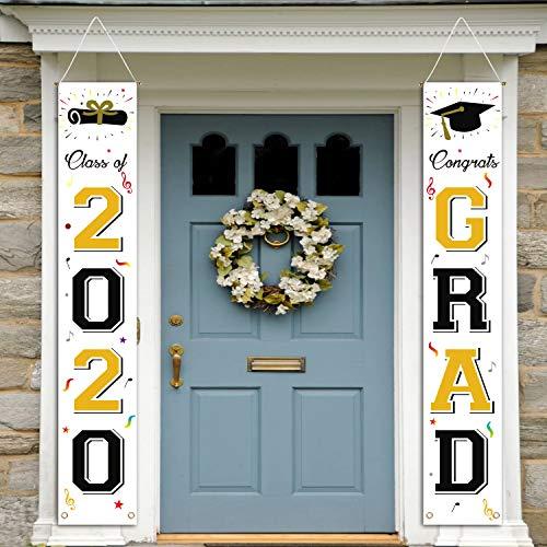 cxwind 2020 Abschlussfeier, Party-Dekoration, Klasse von 2020 Graduation Party Supplies, Abschlussbanner, 2020 Congrats Grad, zum Aufhängen, Flaggen, Veranda-Schild, Tür-Dekor