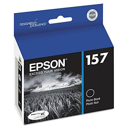 Epson T157120 (157) Ultrachrome K3 Ink, Photo Black
