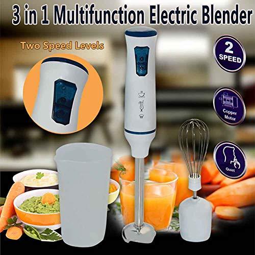 Handmixer, Mini-melkopschuimer voor huishoudelijk gebruik, Elektrische schuimmaker, Ideaal voor smoothies, Shakes, Babyvoeding, Soep, Malen, Groenten en fruit