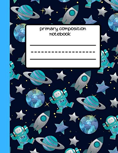 1st grade /& 2nd grade Boy Student Personalized Gift For Back To School Write /& Draw Journal Astronaut Explorer Darwin Outer Space Primary Composition Notebook Kindergarten