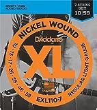 D'Addario Electric Guitar Strings   3 pack   7 string set   EXL110-7   Light