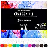 Best Fabric Markers - Crafts 4 ALL Fabric Markers Pens Permanent 12 Review