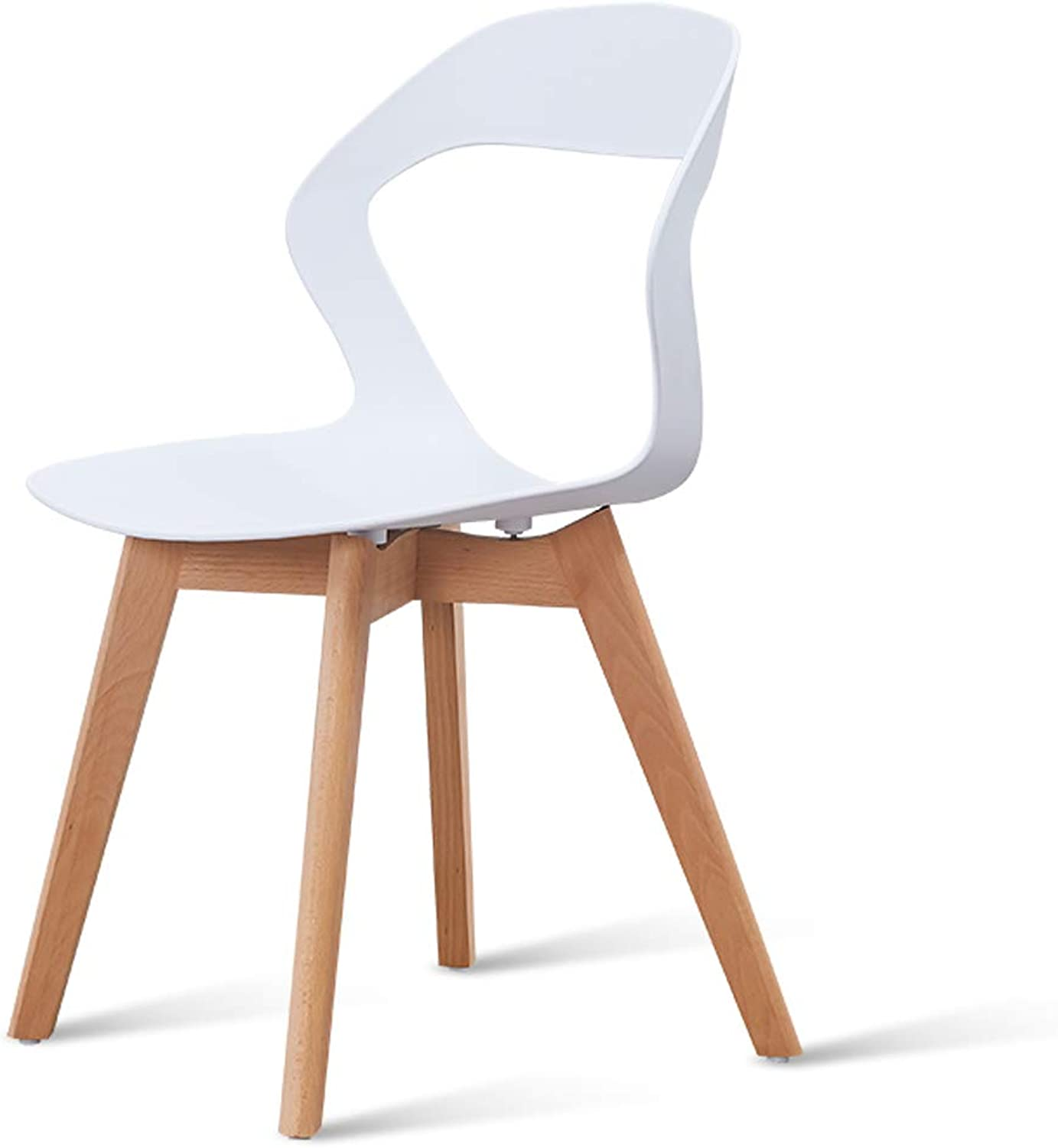 LRW Nordic Dining Chair, Home Computer Chair, Modern Backrest Chair, Bedroom Chair, White