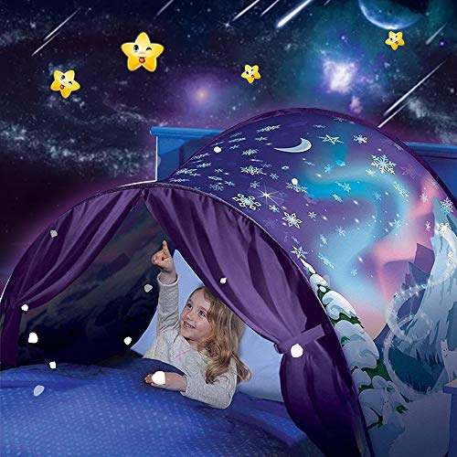 elebaby® Kids Dream Bed Tents Foldable Pop Up Play Tent for Children Night Sleeping Mattress Tent Playhouse with Storage Pocket, Boys and Girls Christmas Birthday Gifts, Bedding Decor