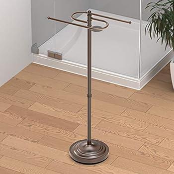 Gatco 1508 Floor Standing S Style Towel Holder Bronze