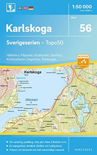 56 Karlskoga Sverigeserien Topo50 : Skala 1:50 000