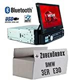 Autoradio Radio Caliber RMD574BT - Bluetooth | MP3 | USB | SD | 7' TFT - Einbauzubehör - Einbauset für BMW 3er E30 - JUST SOUND best choice for caraudio