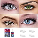 Sparkle Eye® Combo Pack of 4 Pairs of Monthly Color Contact Lenses