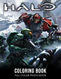 Halo Coloring Book: Shooter Video Game Coloring Book for Adults Gamers Relaxing Gift with More Than 20 Beautiful and Unique Fantasy Coloring Pages in Both Color and Black Line Art for Stress Relief