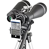 Gosky Titan 20x80 Astronomy Binoculars, Giant Binocular with Braced-in Tripod Adapter,Carrying Case,Protective Shield,