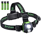 Powerful LED Headlamp Flashlight Batteries INCLUDED, 5 Modes (200 Lumen) Adjustable Head Strap, Hands Free Operation, Flashing Mode Red/Green/White, UltraBright Flashlight for Tactical, Work & Outdoor