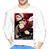 ブルームン Tシャツ 長袖 呪術廻戦 トレーナー シャツ 上着 ファッション カットソー Xl White 綿 メンズ レディース