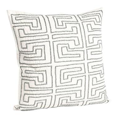 SARO LIFESTYLE H1691 Pewter Pillow, 18-Inch