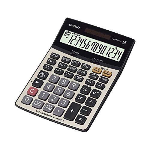 DJ-240D Plus 300 Steps Check and Correct Premium Desktop Calculator with Metallic faceplate & Bigger Screen/Keys (14 Digit)