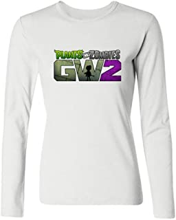 Tommery Women's Plants vs. Zombies PNG Long Sleeve Cotton T Shirt
