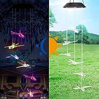 Sognante 芝生ガーデンパーティーの装飾のためのクリスマスライト、風チャイム、LEDライト、ソーラーストリングライト ルーシー装飾 (Color : Dragonfly)