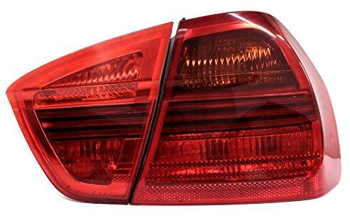 Finest Folia Rückleuchtenfolie Rückleuchten Folien Set (Red, E90 Limousine C013)