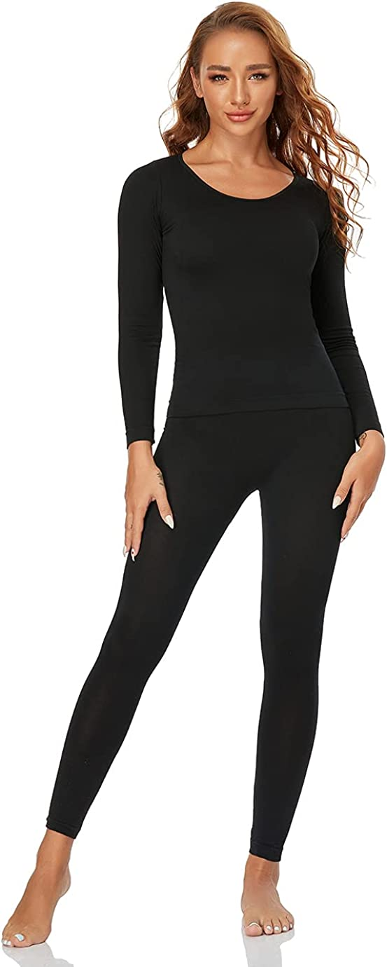 Thermal Underwear Set for Women Long Johns Base Layer Soft Winter S/M