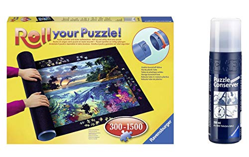 Outletdelocio Pack Puzzle Roll  17956. Tapete Universal para Transportar/Guardar Puzzles + Pegamento/Conserver