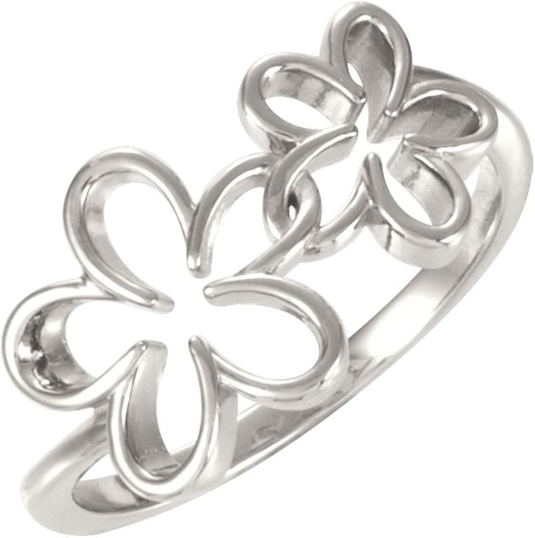 Beautiful Sterling silver 925 sterling Sterlingsilver Precious Metl Fash Floral Ring