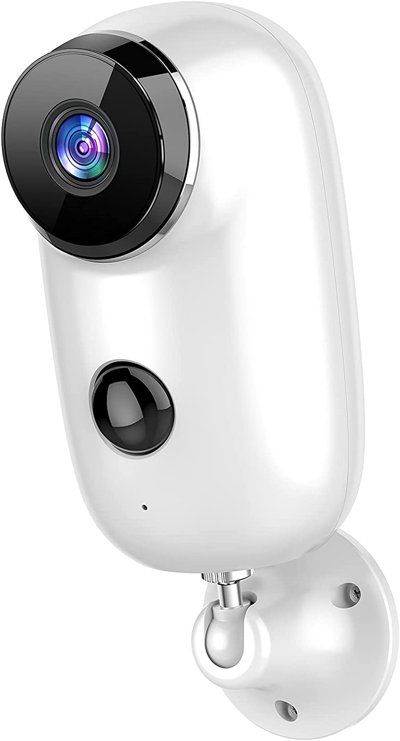 Viseefocu Security Camera Outdoor, 1080P Battery Powered Wireless Security Cameras for Home Security System with 2.4G WiFi, Waterproof, Night Vision, Motion Detection, 2-Way Audio, SD/Cloud
